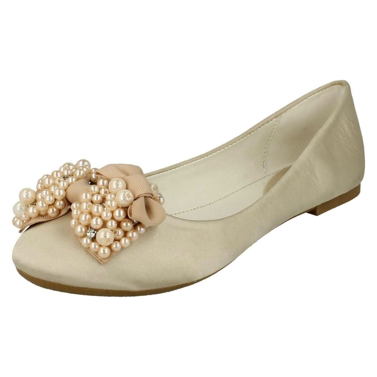 Ladies-Spot-On-F80090-Evening-Ballerina-Shoes-Style-K