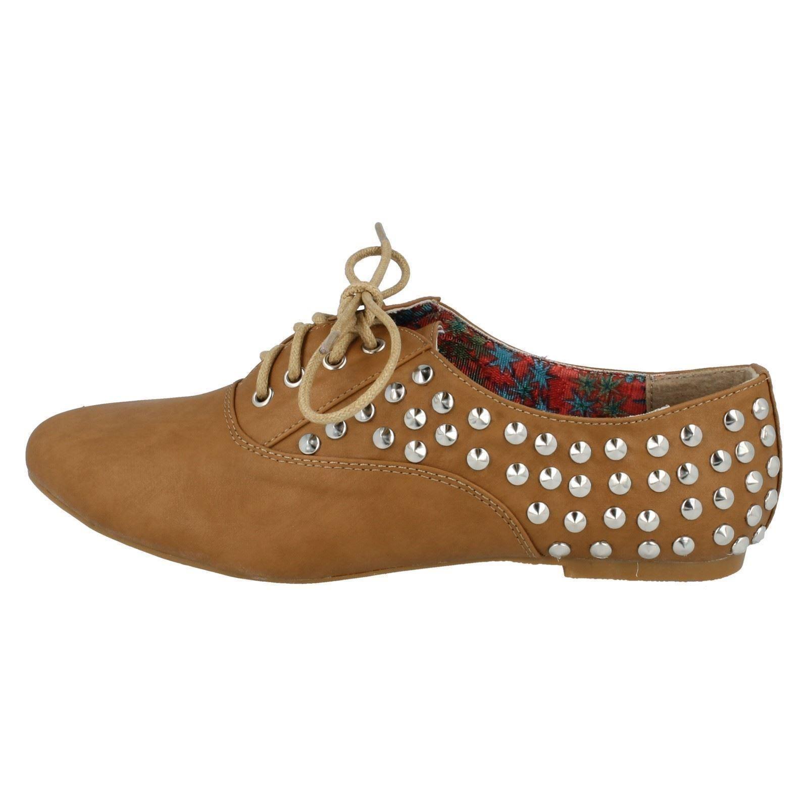 Señoras Spot en Casual Plana lazada Zapatos f8870