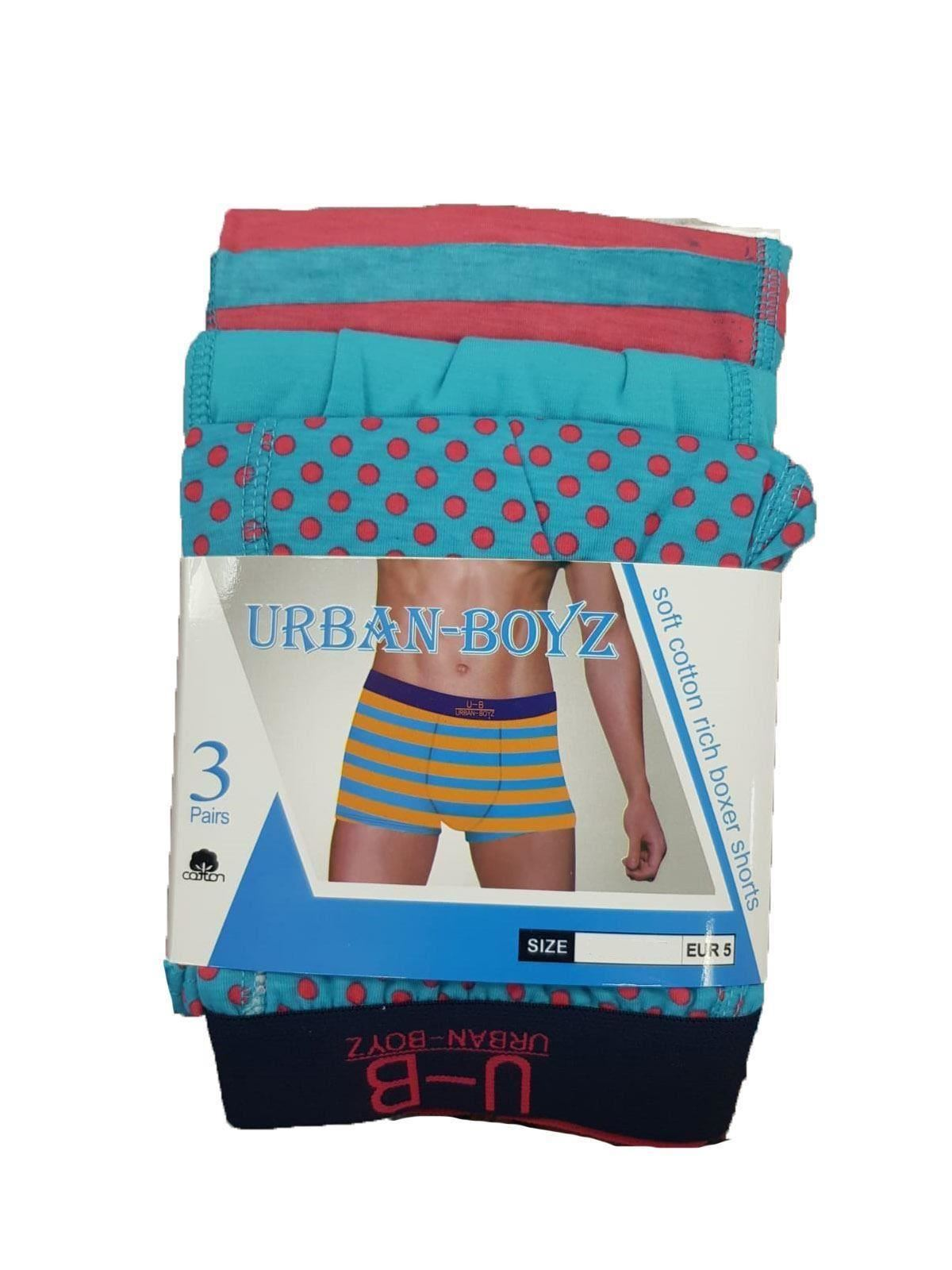 MENS HIPSTER BOXER SHORTS  PANTS UOMO ASSORTED BRIGHT COLOURS PACK OF 3