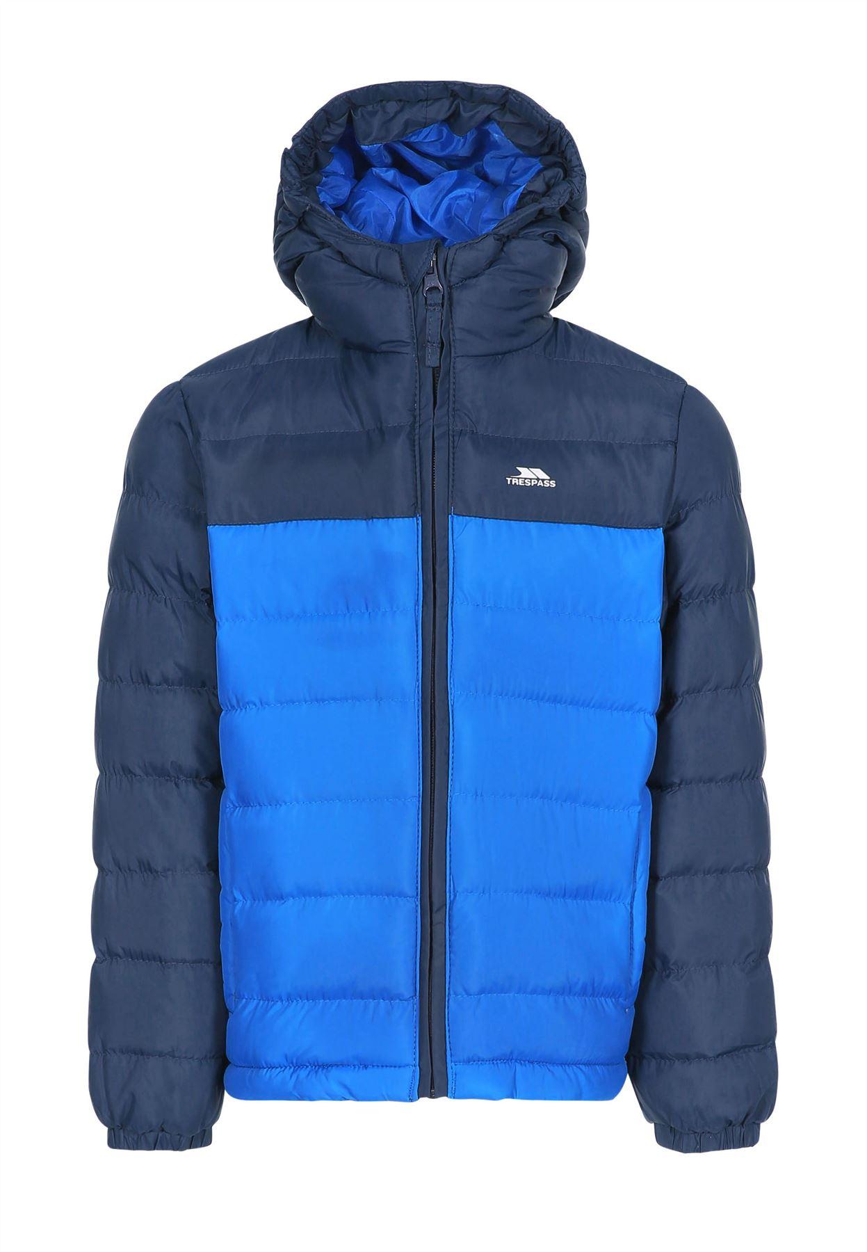 Trespass Oskar Kids Quilted Jacket Hooded Coat
