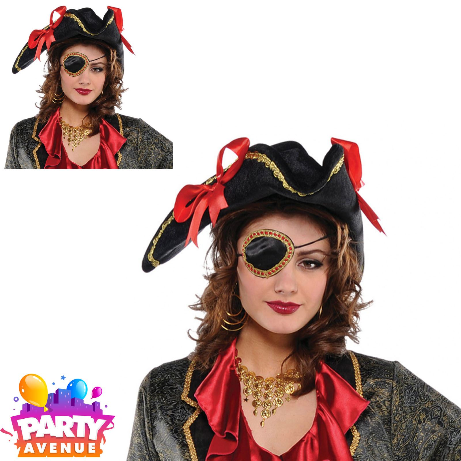 Mens Ladies Pirate Eyepatch Adults Pirates Patch Fancy Dress Accessory
