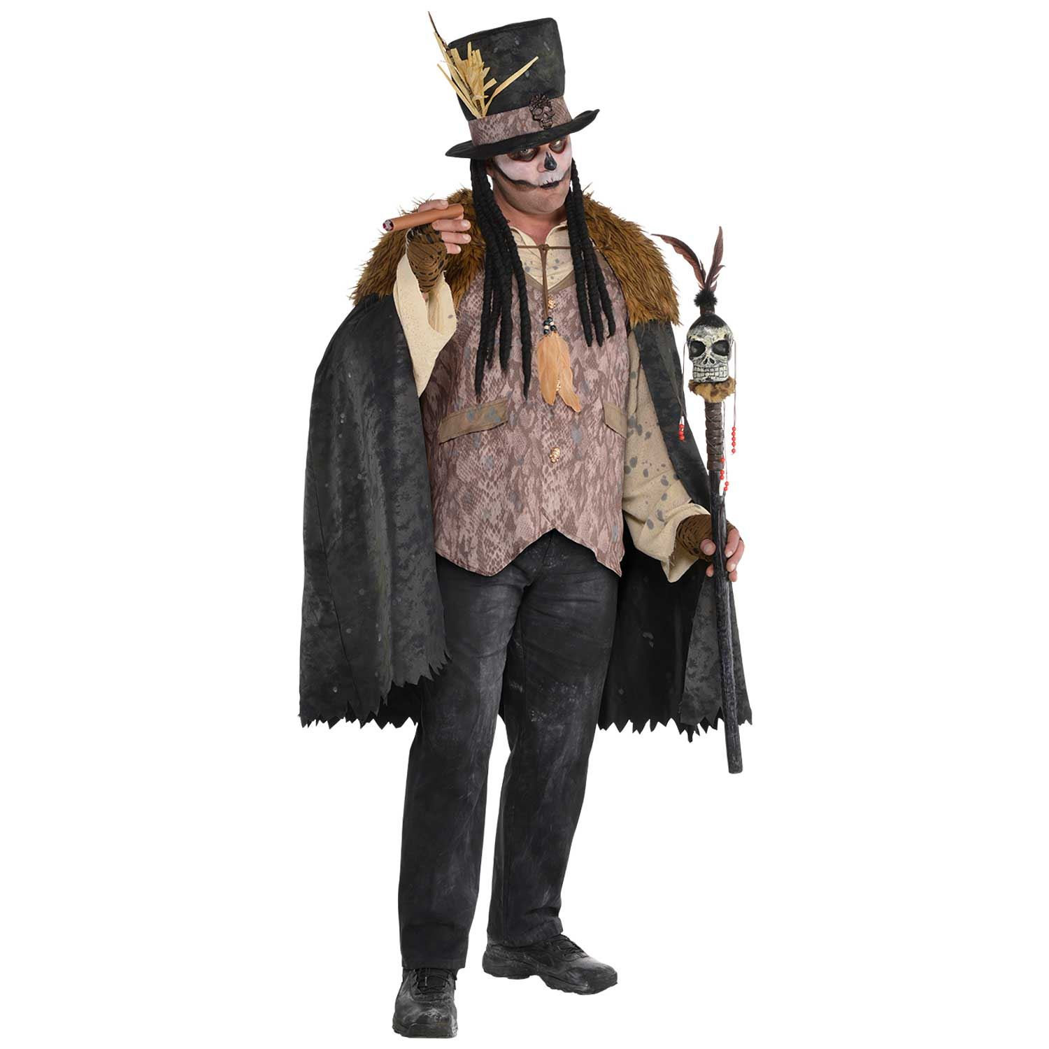 Mens Witch Doctor Halloween Costume Voodoo Fancy Dress Plus Size Ebay