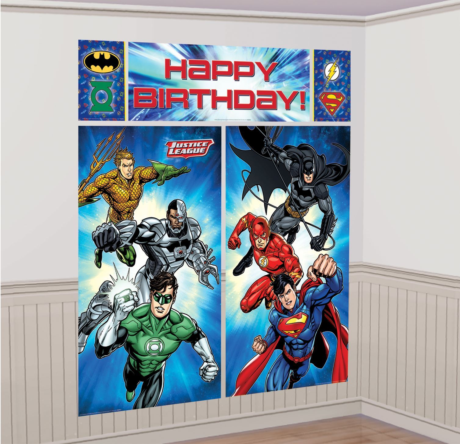 Dc justice league tableware party decorations foil