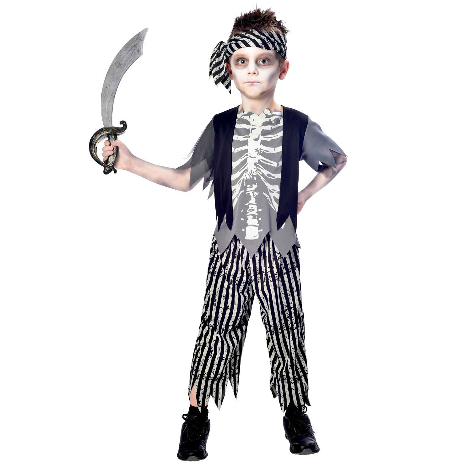 boys zombie pirate costume child ghost ship halloween fancy dress