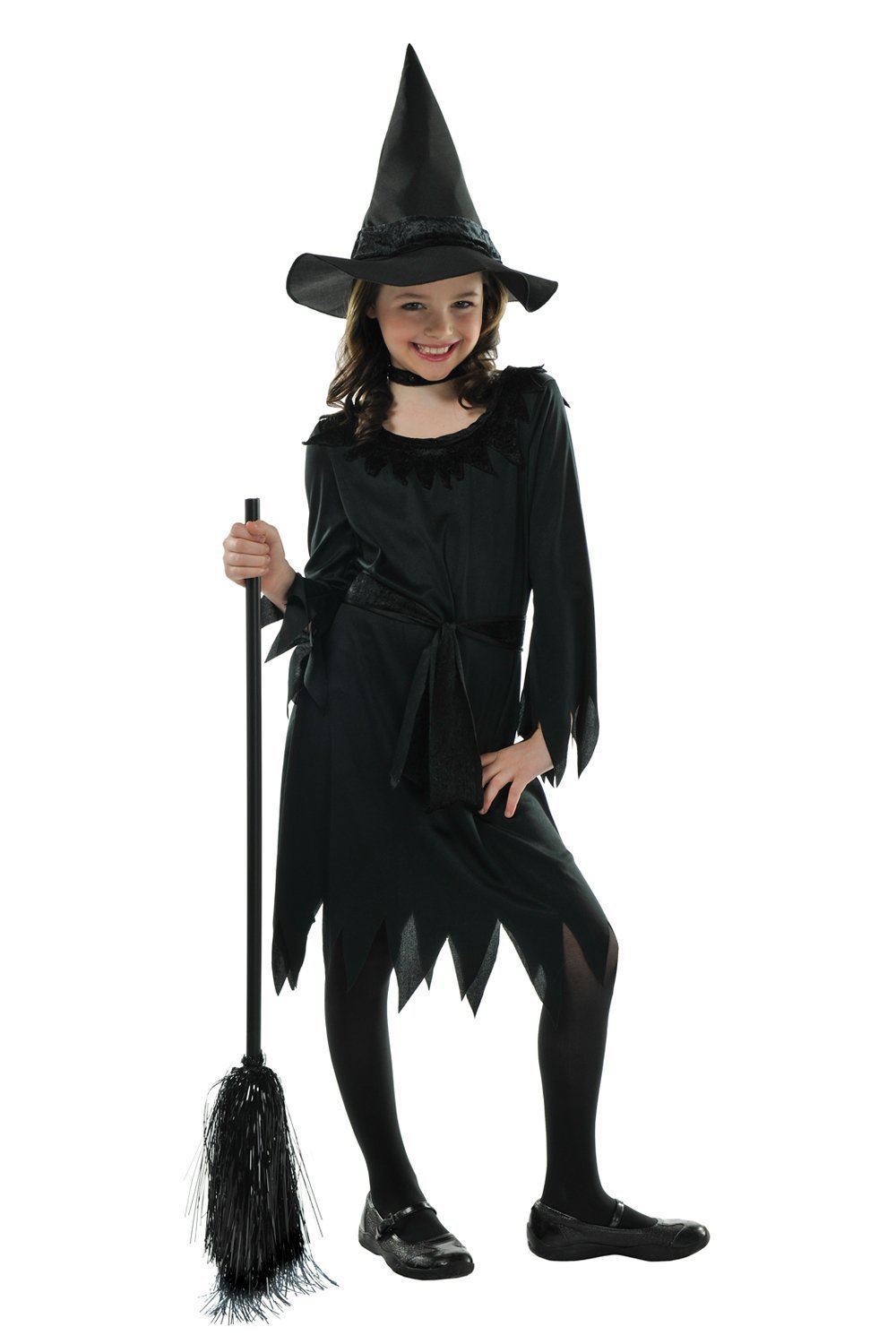 Childrens Girls Lil Witch Halloween Party Costume Fancy Dress ...