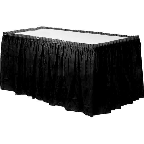 Solid-Colour-Plastic-Table-Skirt-Fringe-14ft-Birthday-Party-Decoration-Tableware thumbnail 9