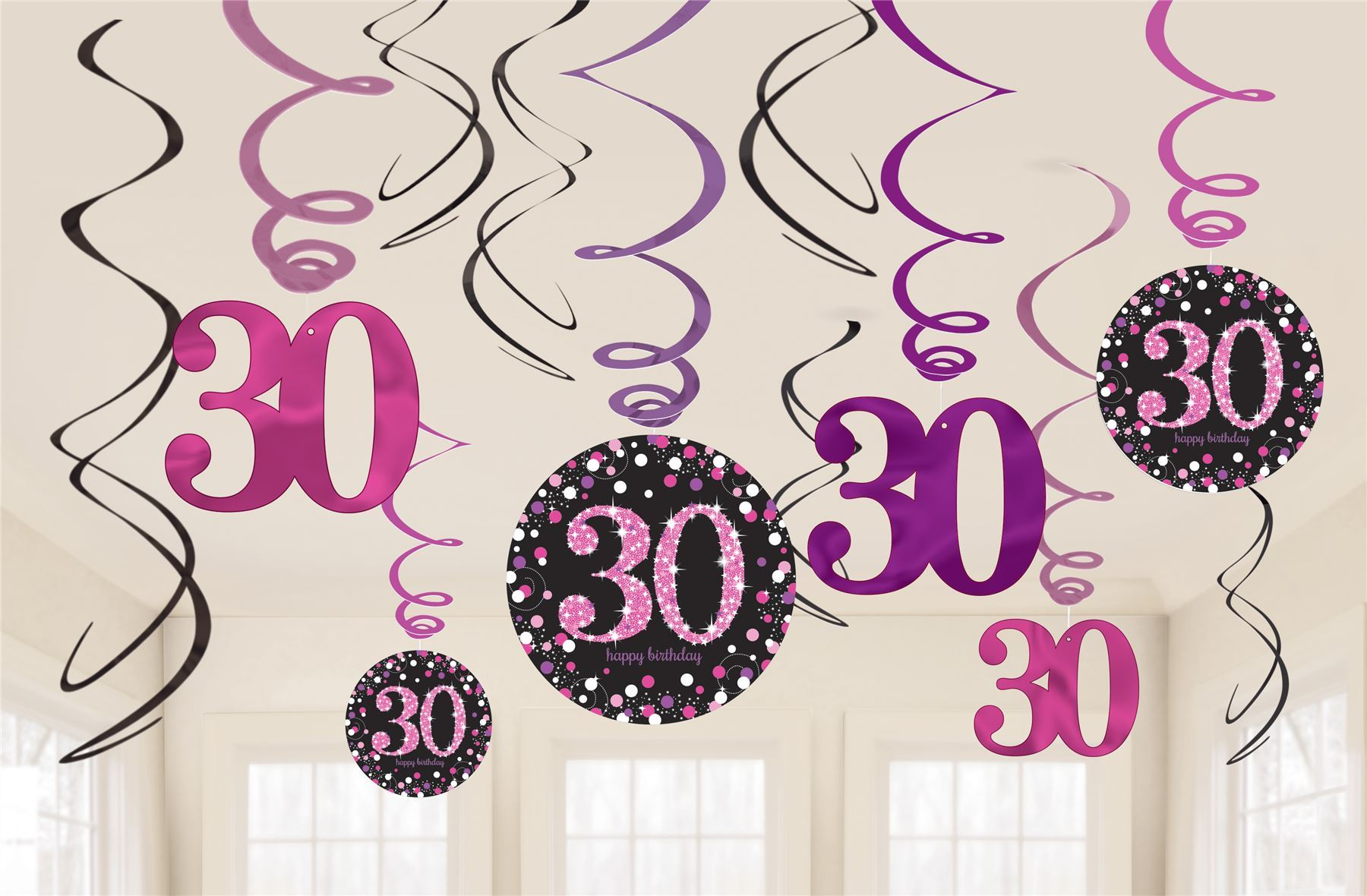 Pink-Sparkling-Celebration-30th-Birthday-Party-Tableware-Decorations-  sc 1 st  eBay & Pink Sparkling Celebration 30th Birthday Party Tableware Decorations ...