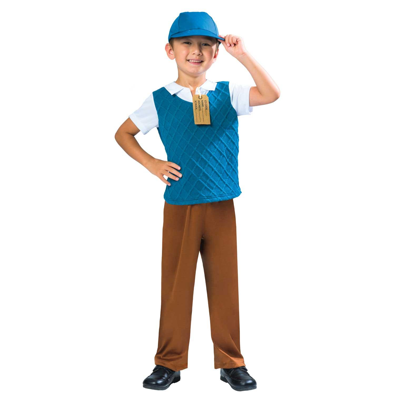 Accurato Ragazzi 1940s Costume Bambino Scuola Storico Costume Libro Day 7-8yrs-mostra Il Titolo Originale