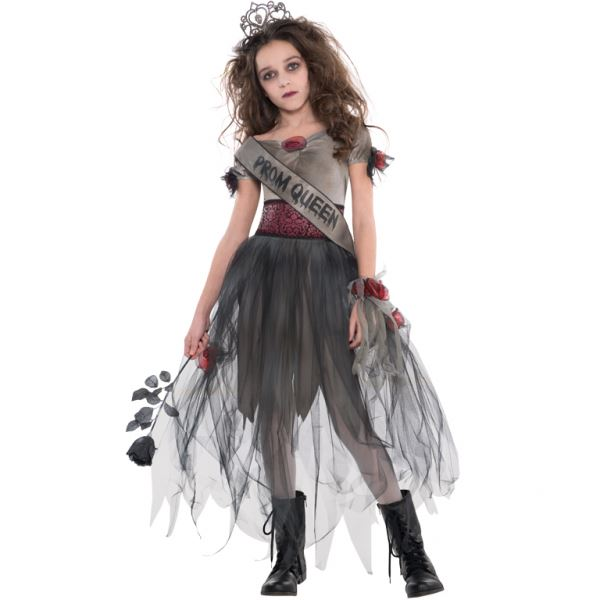 girls teen prombie queen zombie halloween costume fancy - Girls Teen Halloween Costumes