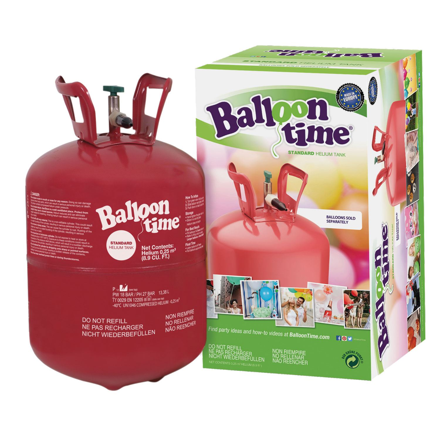 Details about Balloon Helium Gas Disposable Cylinder Canister Birthday  Party 30 / 150 Balloons