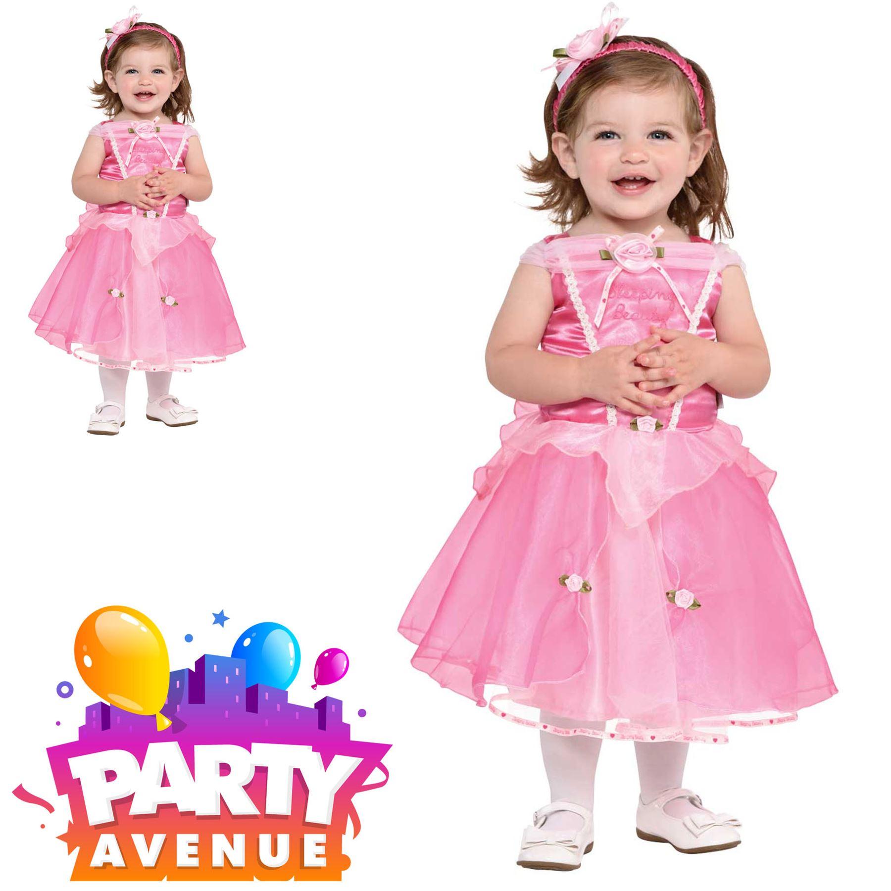 Deluxe Sleeping Beauty Girls Fancy Dress Disney Princess Kids Childrens Costume