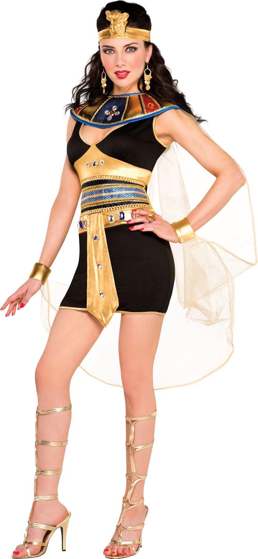 womens ladies egyptian cleopatra beauty pharaoh fancy dress