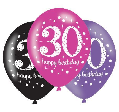 Pink Sparkling Celebration 30th Birthday Party Tableware Decorations