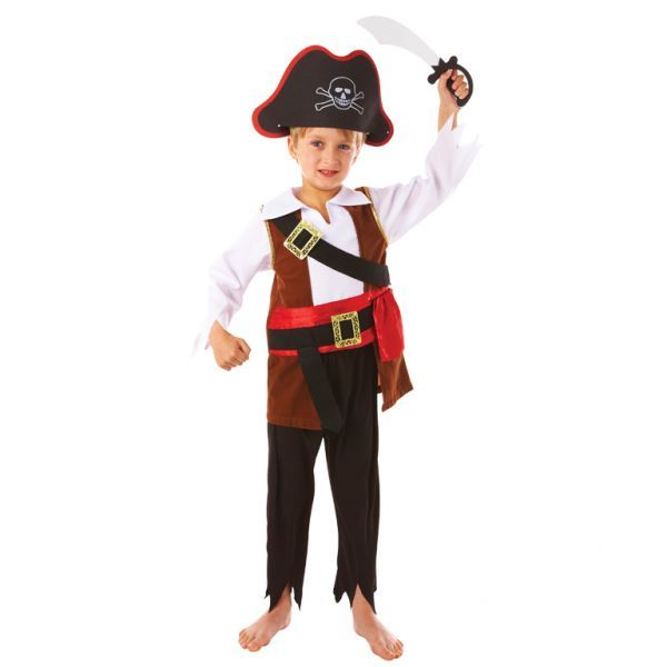 Boys-Pirate-Costumes-Fancy-Dress-Book-Week-amp-Accessories-Lot thumbnail 17