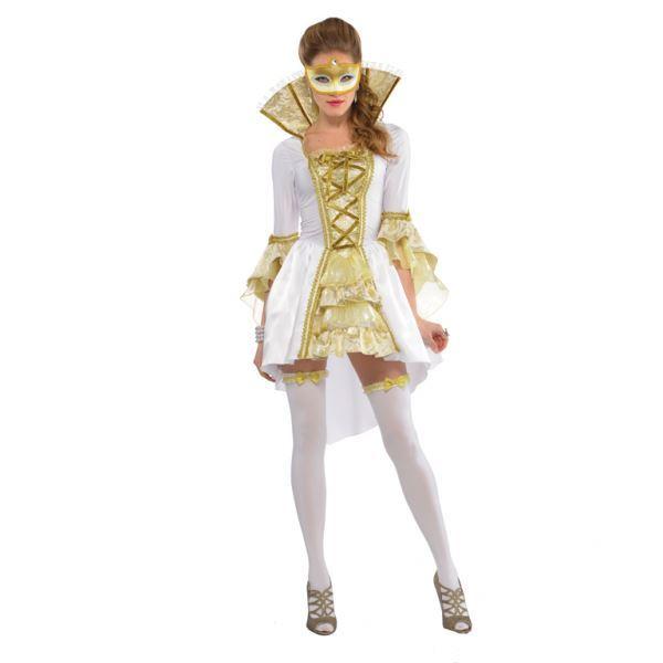Venetian-Costume-Venezia-Baroque-Masquerade-Ladies-Historical-Fancy-Dress-Womens thumbnail 2