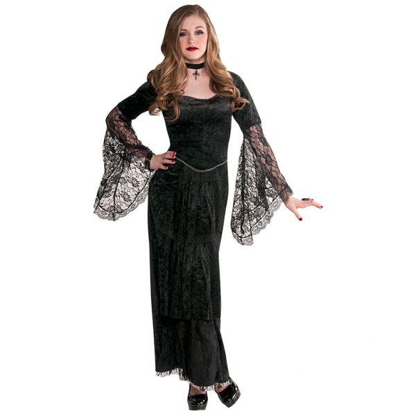 Girls Teens Gothic Halloween Vampire Witch Costume & Accessories ...
