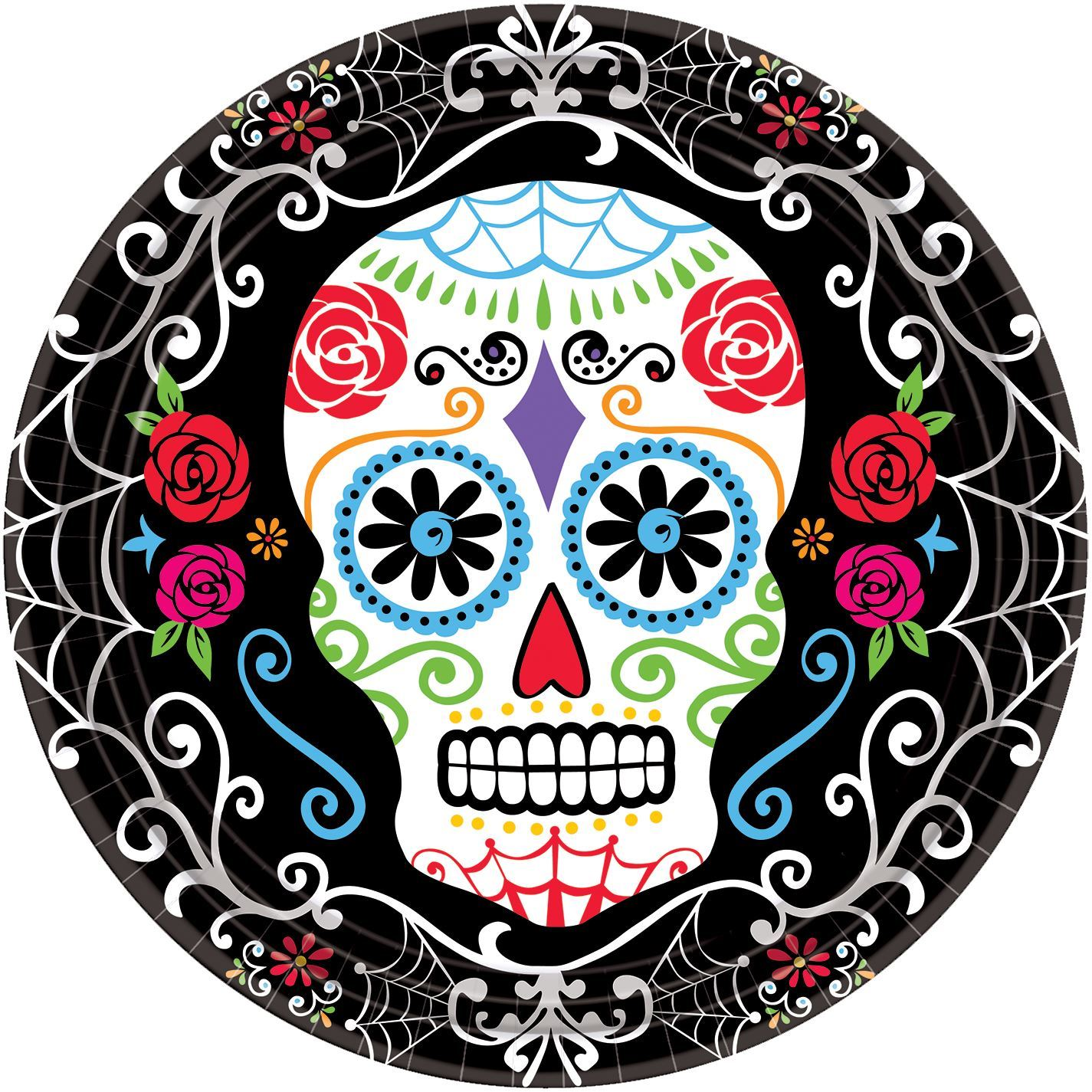 Day-of-the-Dead-Tableware-Halloween-Mexican-Skeleton-  sc 1 st  eBay & Day of the Dead Tableware Halloween Mexican Skeleton Party Tableware ...