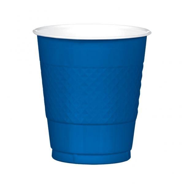 20 Taza de plástico negro 355 ml Color sólido Fiesta de Cumpleaños Boda Vajilla