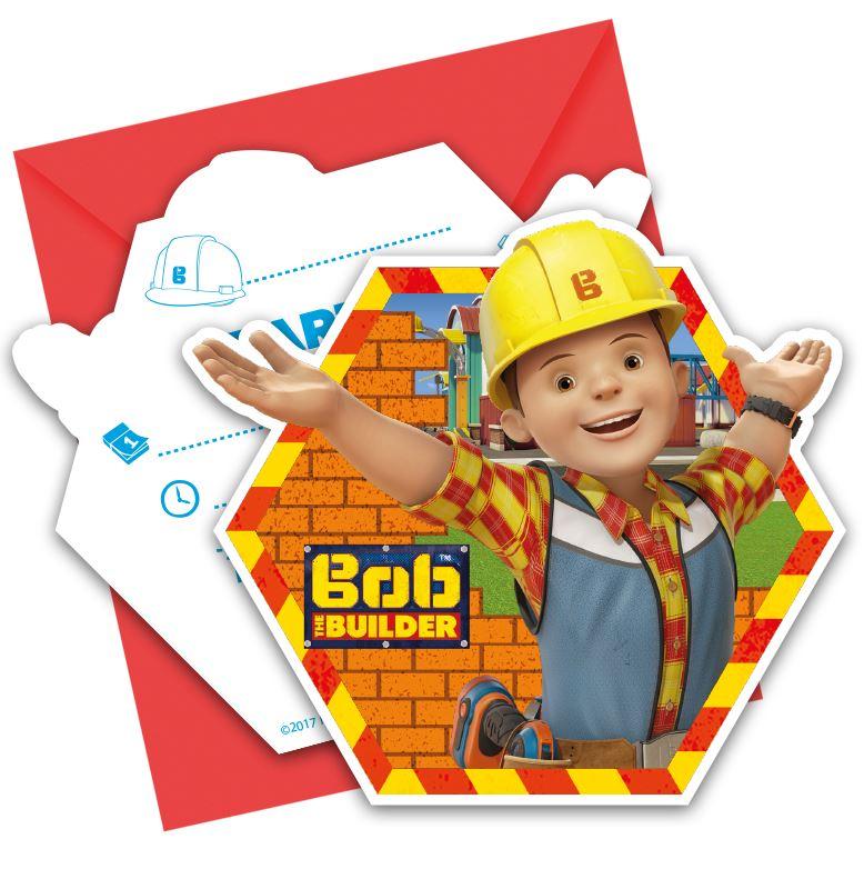 6pk Bob the Builder Invitations /& Envelopes Children/'s Birthday Party Stationary