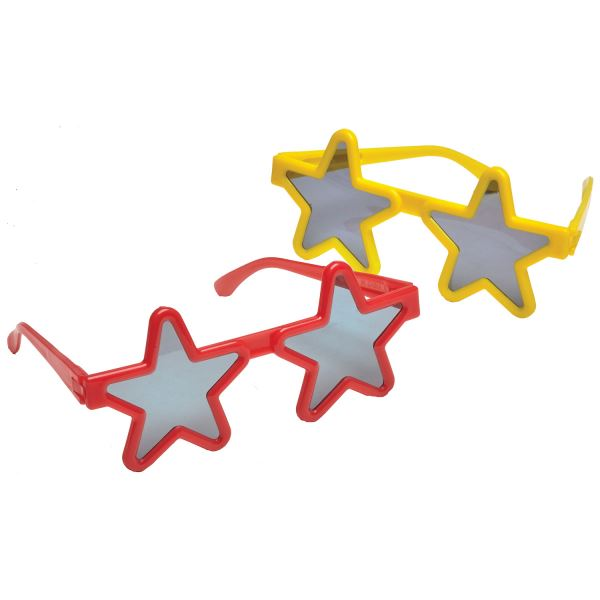 4pk Star Glasses Favour Birthday Party Look Bag