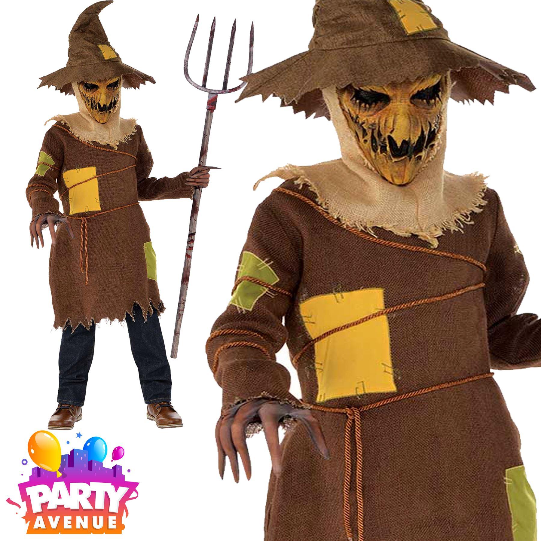 boy teen scary scarecrow halloween fancy dress | ebay