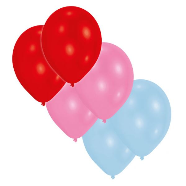 6th Birthday Metallic /& Pearl Pink 30cm Latex Balloons With White Ink 6pk