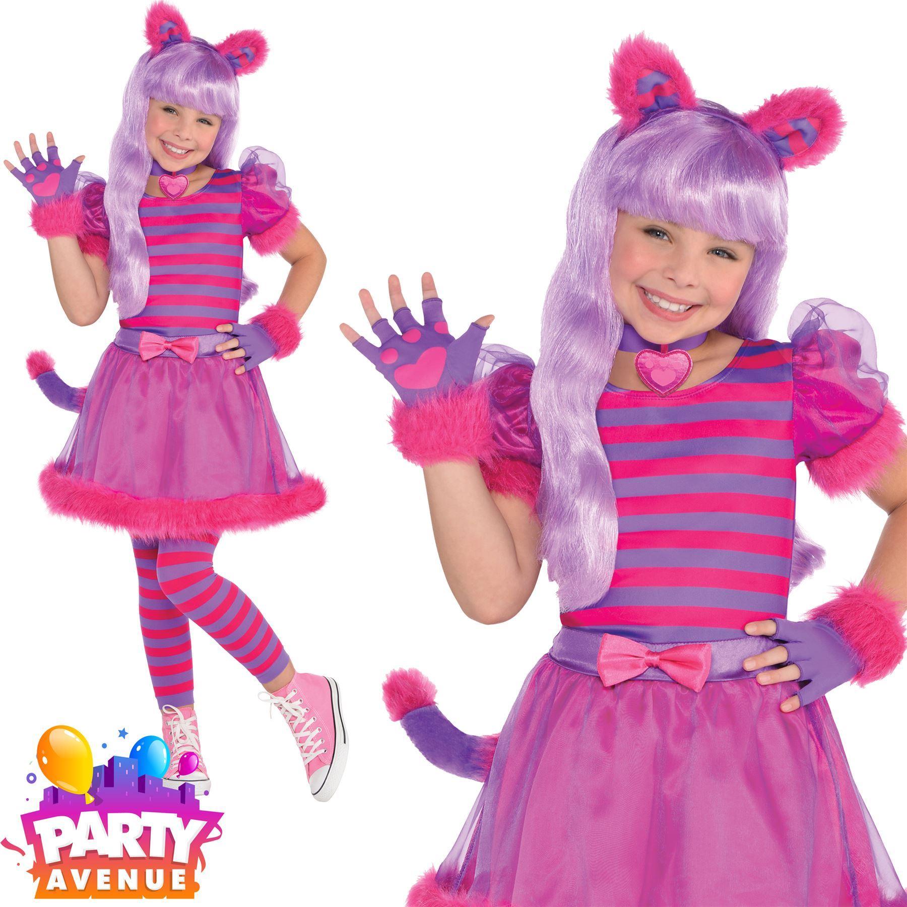 Cheshire Cat Alice in Wonderland Fairytale Book Day Week Girls Costume 10-12yrs