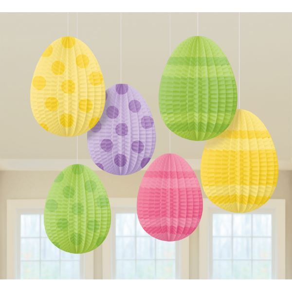 3pk Egg Lantern Decorations Easter Spring Party