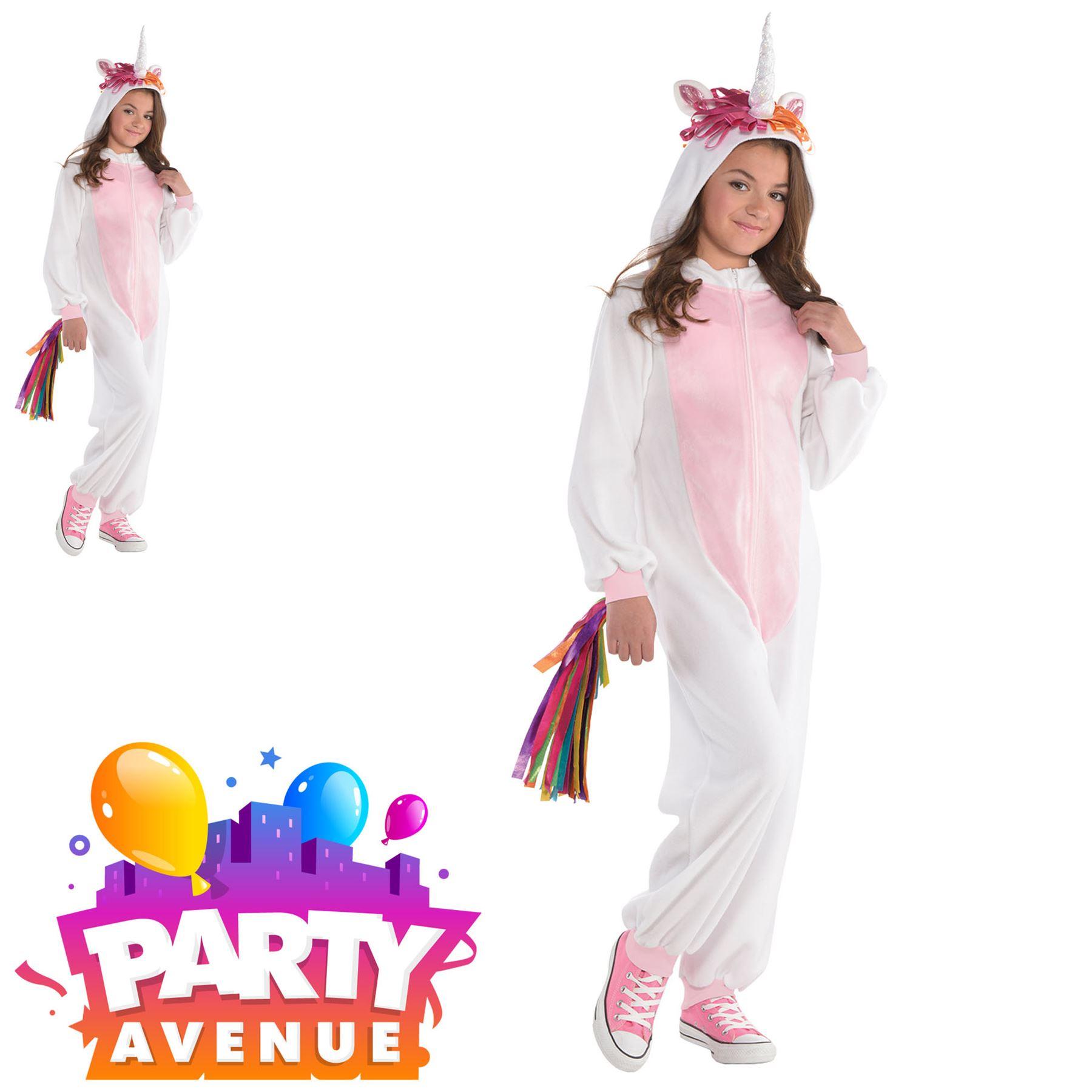 0cc300d2f972 Details about Girls Teens Unicorn One Piece Jumpsuit Magical Fancy Dress Up  Costume