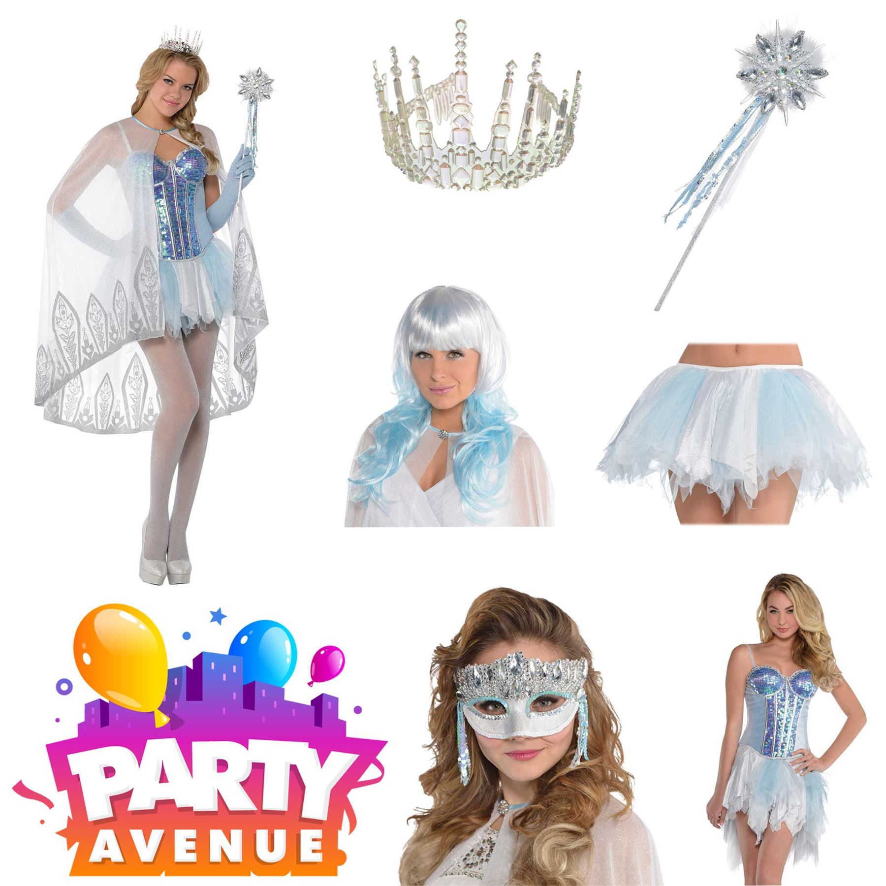 Ice Queen Wig Ladies Fancy Dress Fairy Tale Book Adults Womens Costume Accessory