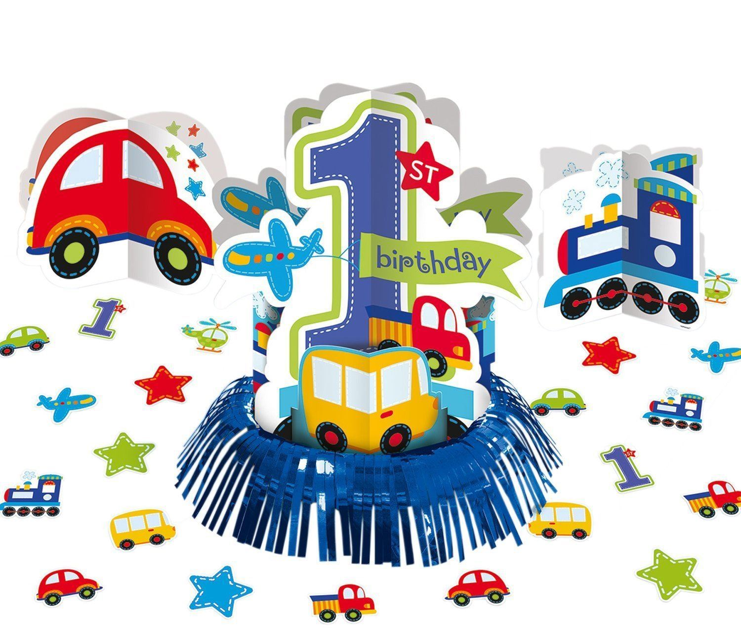 All Aboard Party Baby 1st Birthday Decorations Tableware Balloons ...
