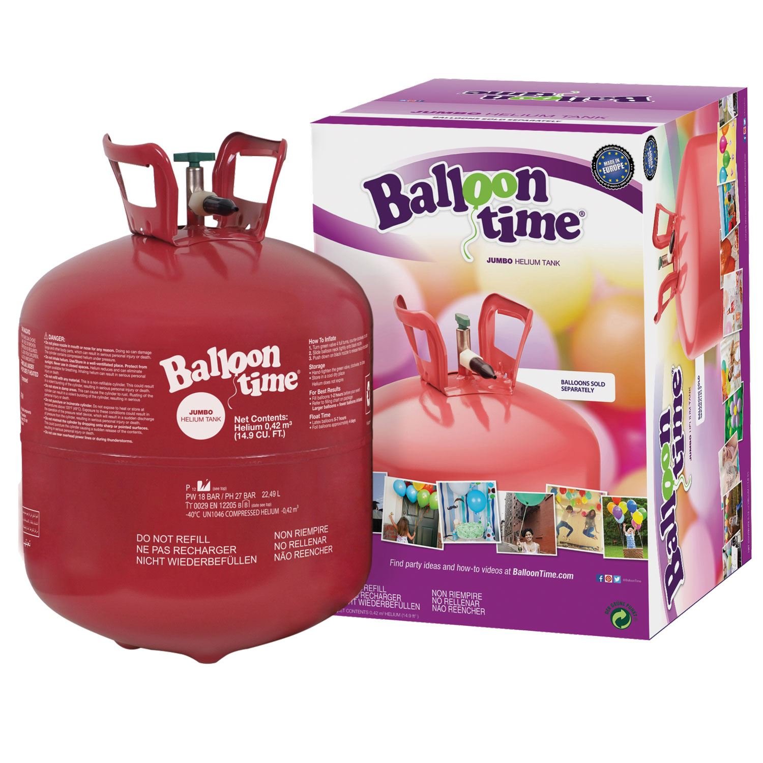 Details about Balloon Helium Gas Disposable Cylinder Canister Birthday  Party Fills 50 Balloons