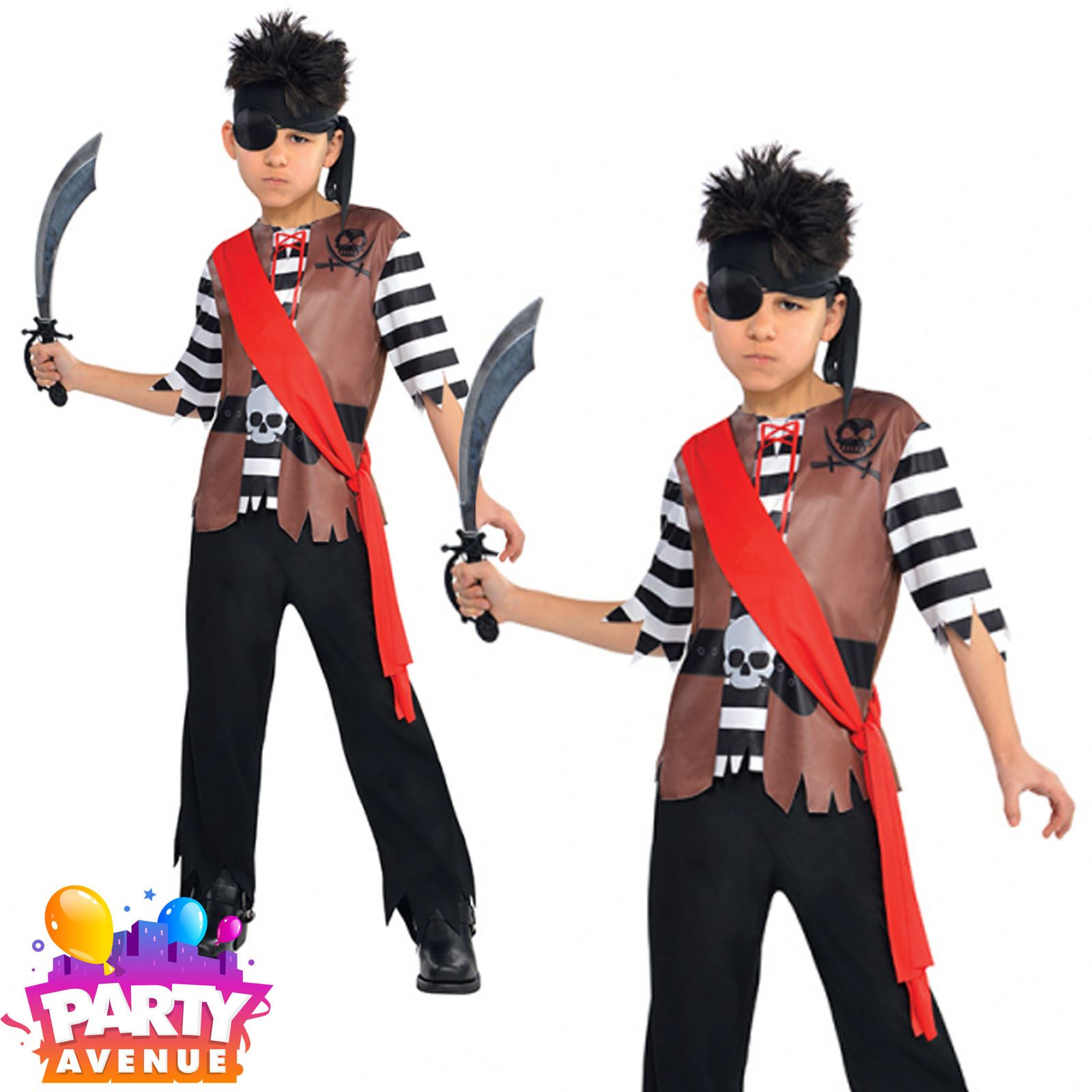 Boys-Pirate-Costumes-Fancy-Dress-Book-Week-amp-Accessories-Lot thumbnail 4