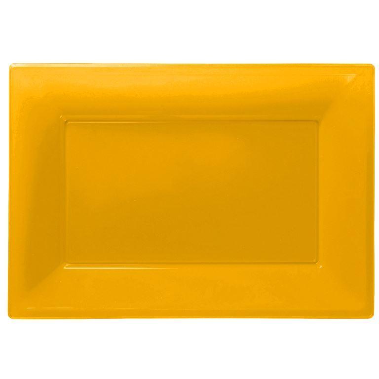 3-Bandeja-para-Servir-Bandejas-de-plastico-de-color-33-cm-X-23-cm-Buffet-Fiesta-Vajilla