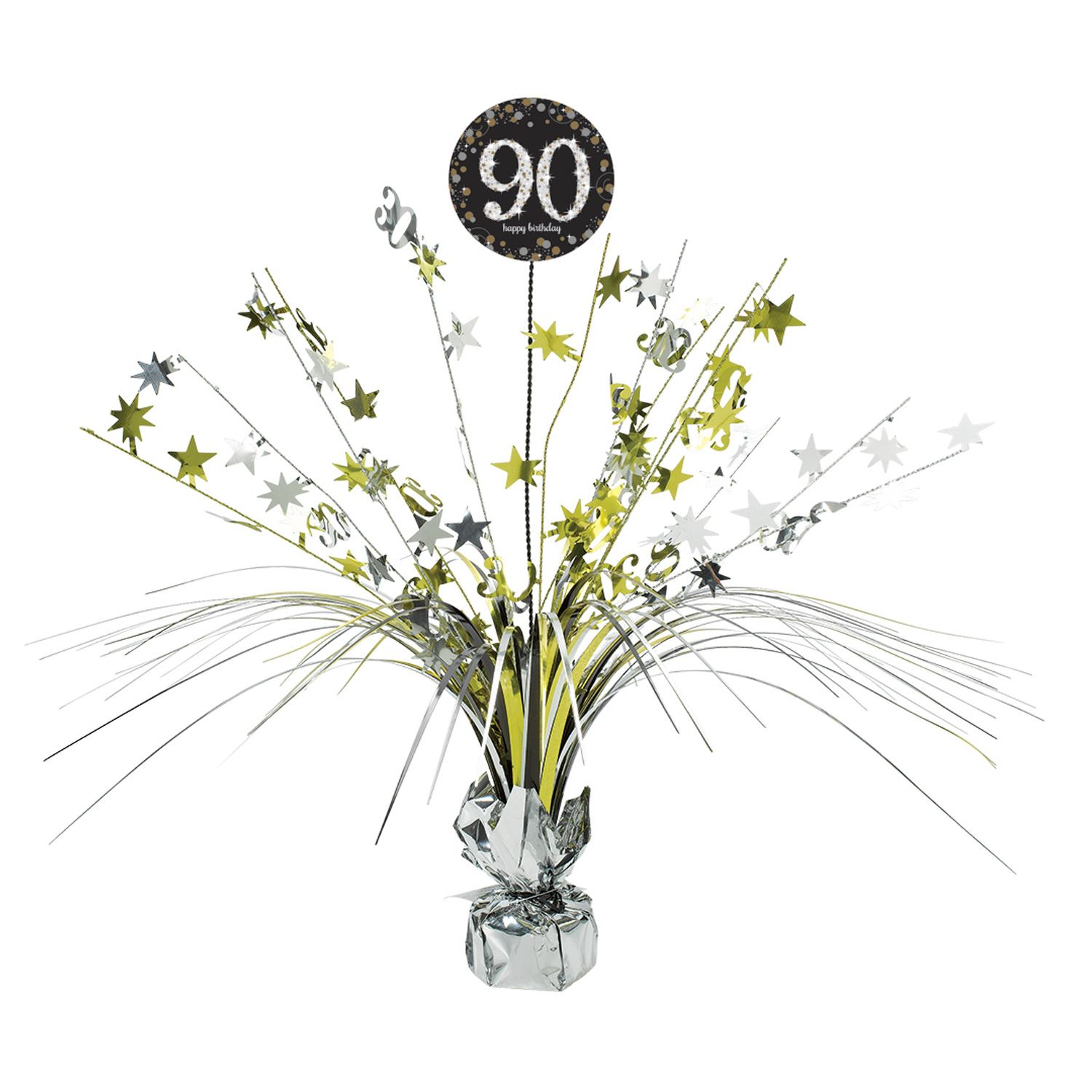Gold Sparkling Celebration 90th Birthday Party Tableware Decorations
