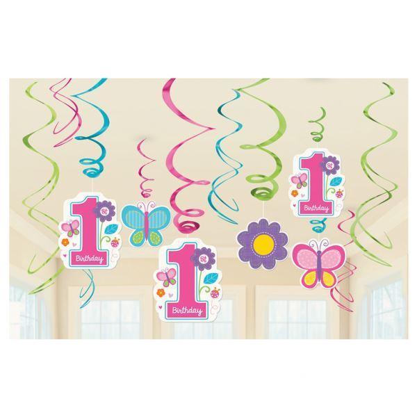 Amscan 67055-103-55 55 cm Plastic Swirls Decorations