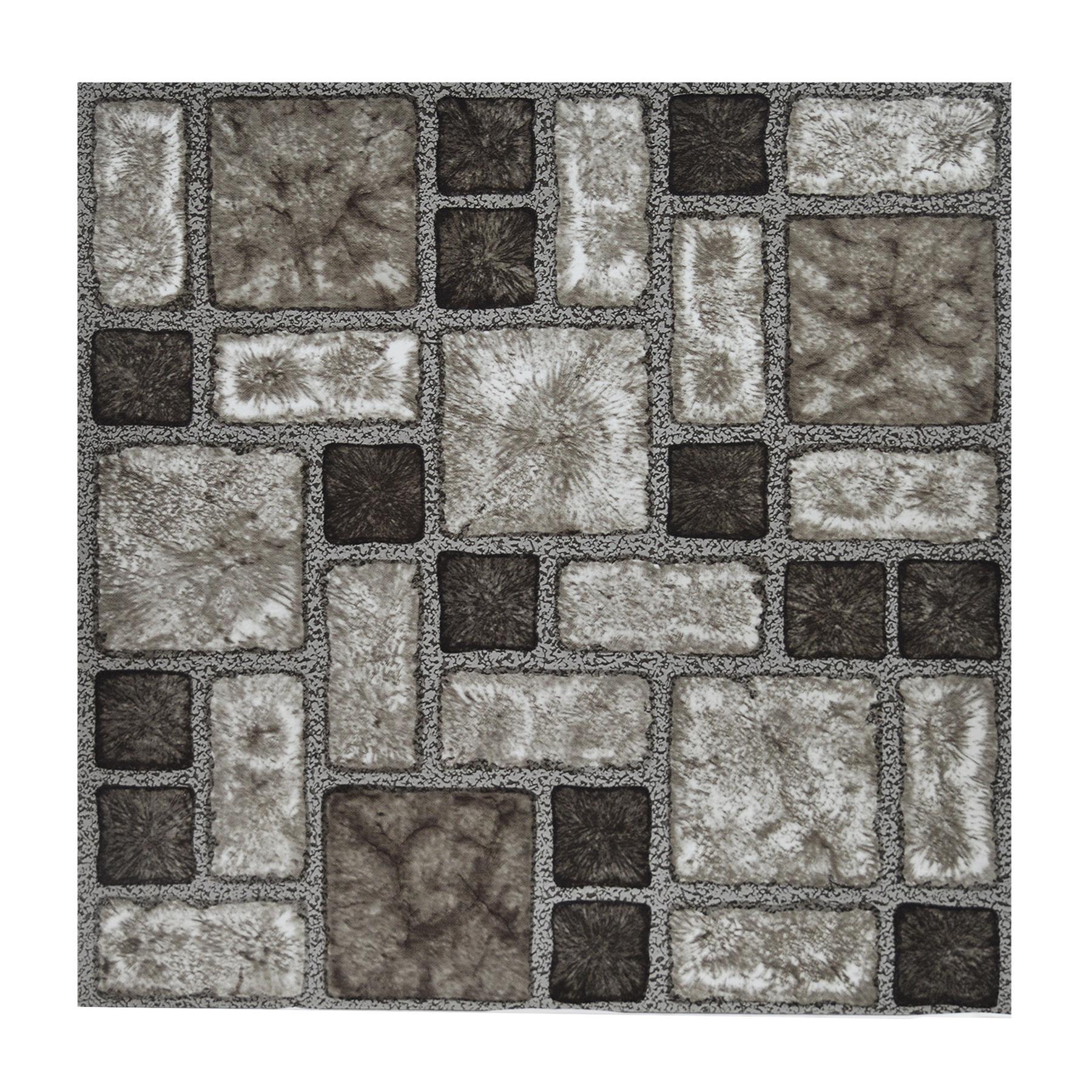 Floor Tiles Self Adhesive Vinyl Flooring Kitchen Bathroom Charcoal Stone Effect Ebay