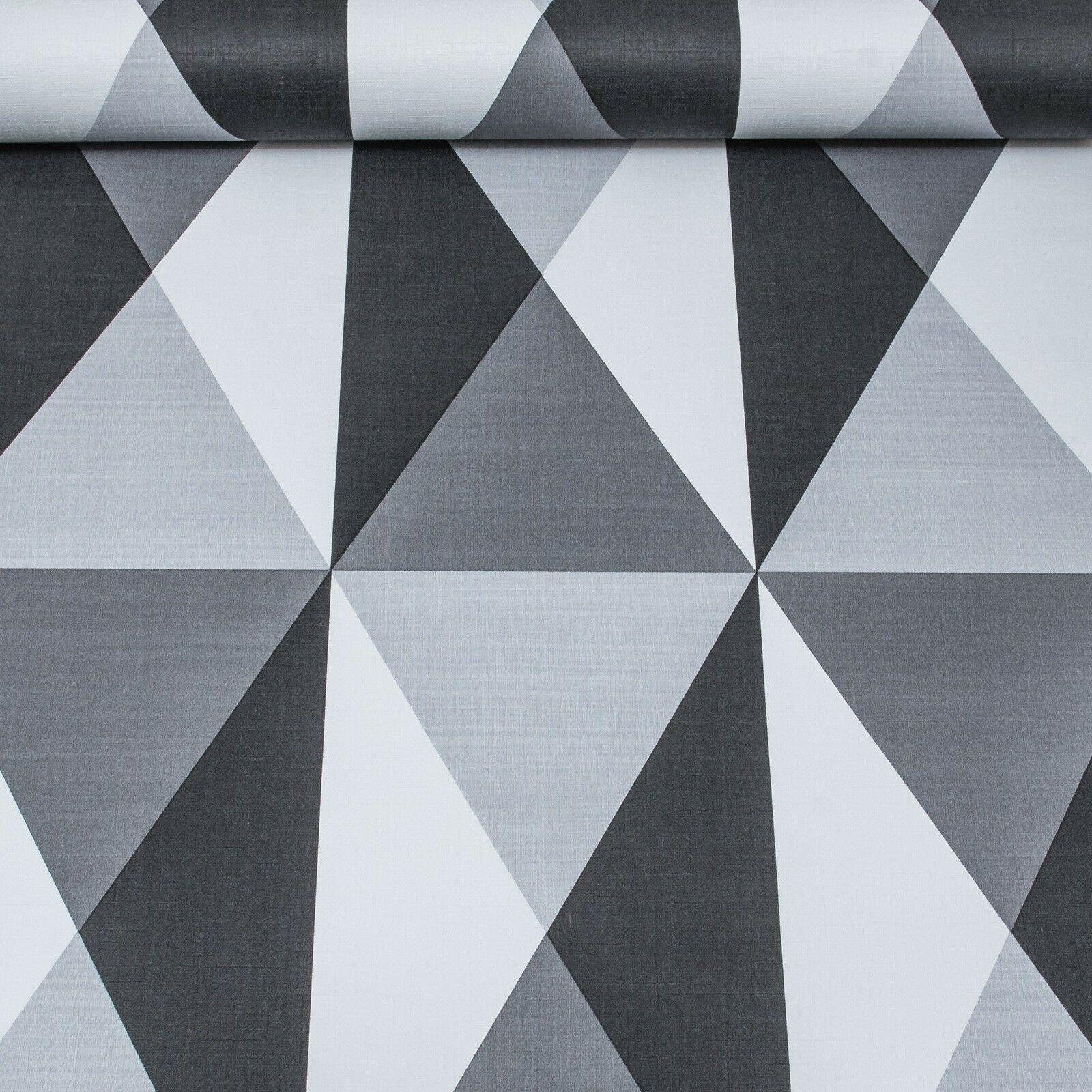 Ugepa 3d Geometric Triangles Diamond Wallpaper Grey Black White Vinyl Paste Wall Ebay