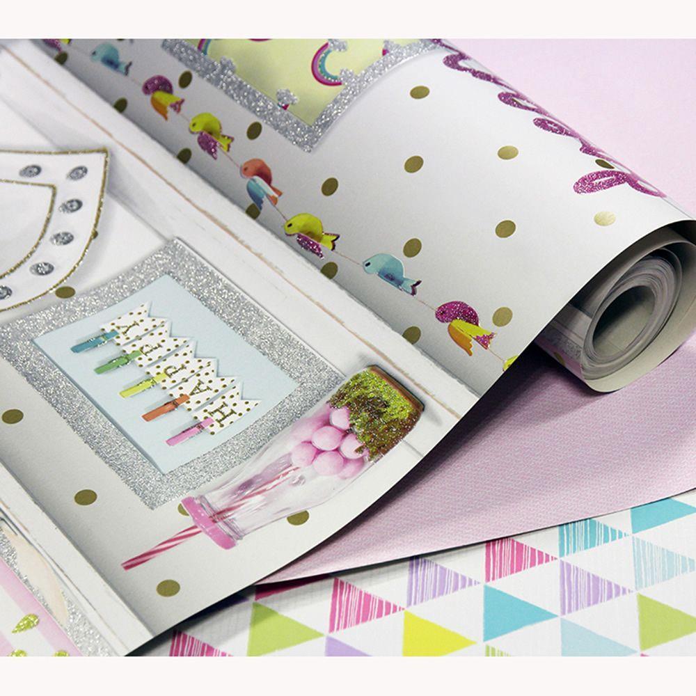 Girls-Unicorn-Wallpaper-Children-039-s-Pink-White-Glitter-Rainbow-Butterflies-Floral thumbnail 30