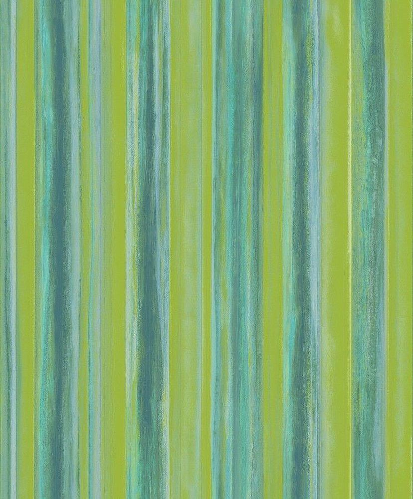 Textured Stripe Glitter Wallpaper Green Vinyl Paste Wall Vertical Art Plain