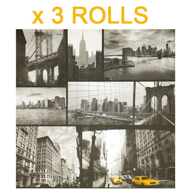 New York City Wallpaper Black White Photograph Monochrome Yellow Taxi NYC x 3