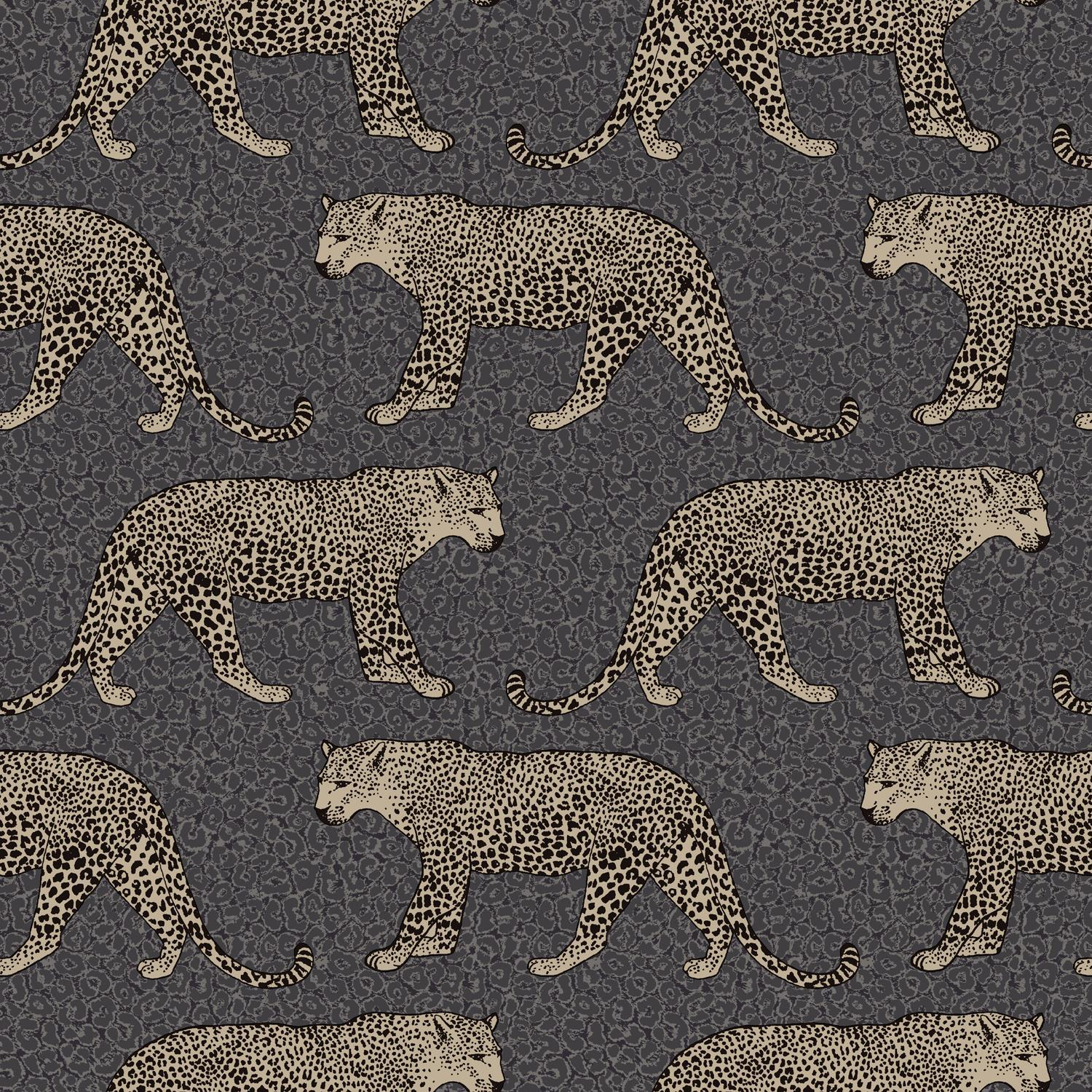 Details About Black Gold Leopard Wallpaper Metallic Shimmer Animal Print Spots Feature Rasch