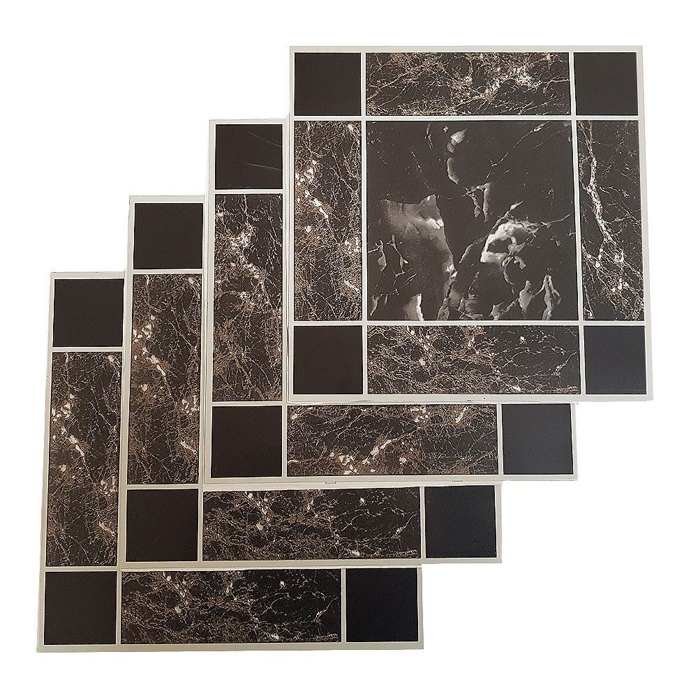 Sensational Details About Floor Tiles Self Adhesive Vinyl Flooring Kitchen Bathroom Black Marble Grey Home Remodeling Inspirations Basidirectenergyitoicom