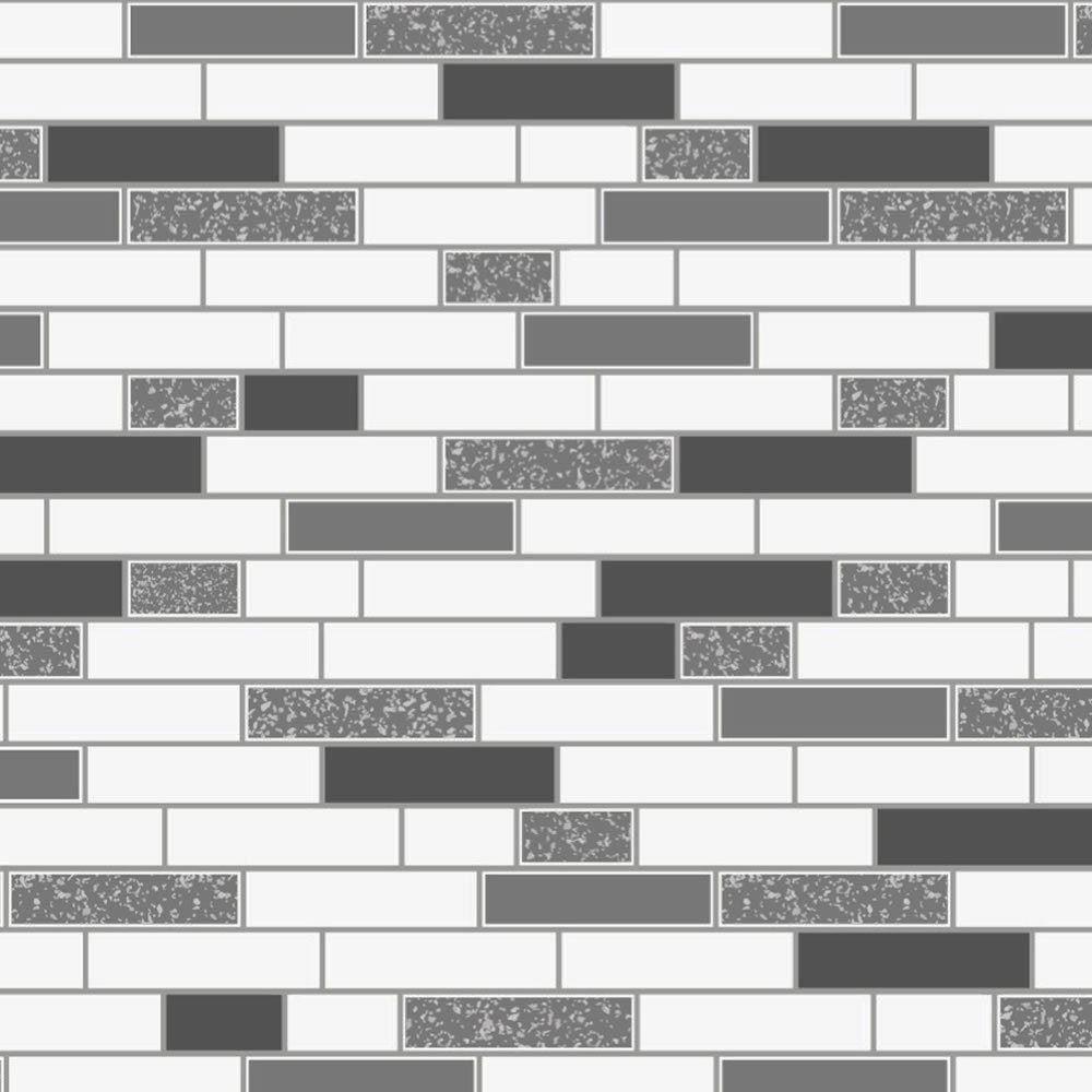 Oblong-Stone-Tile-Kitchen-Bathroom-Wallpaper-Vinyl-Silver-Glitter-Holden-Decor thumbnail 10