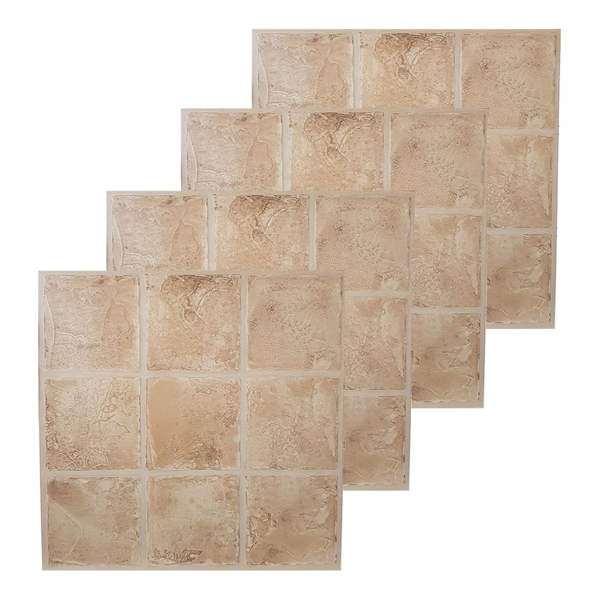 Piastrelle pavimento in vinile effetto pietra mosaico di for Piastrelle vinile