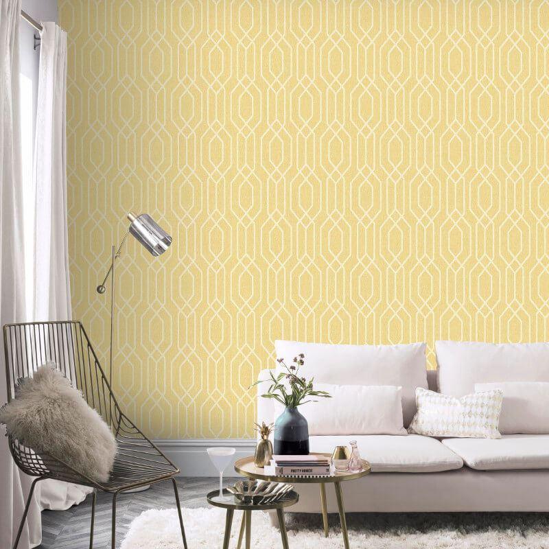 New-York-Geometric-Wallpaper-Trellis-Hexagon-Modern-Luxury-Decor-Arthouse thumbnail 9