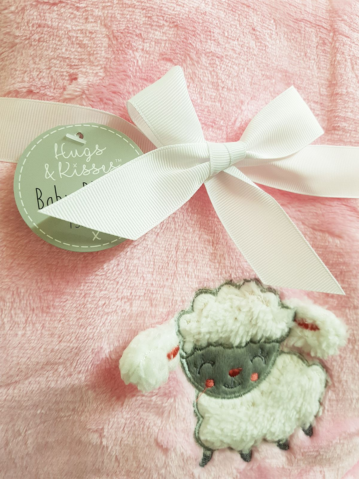 Embroidered-3D-Baby-Blanket-Sheep-Pink-Grey-Blue-Sherpa-Fleece-75x100cm thumbnail 10