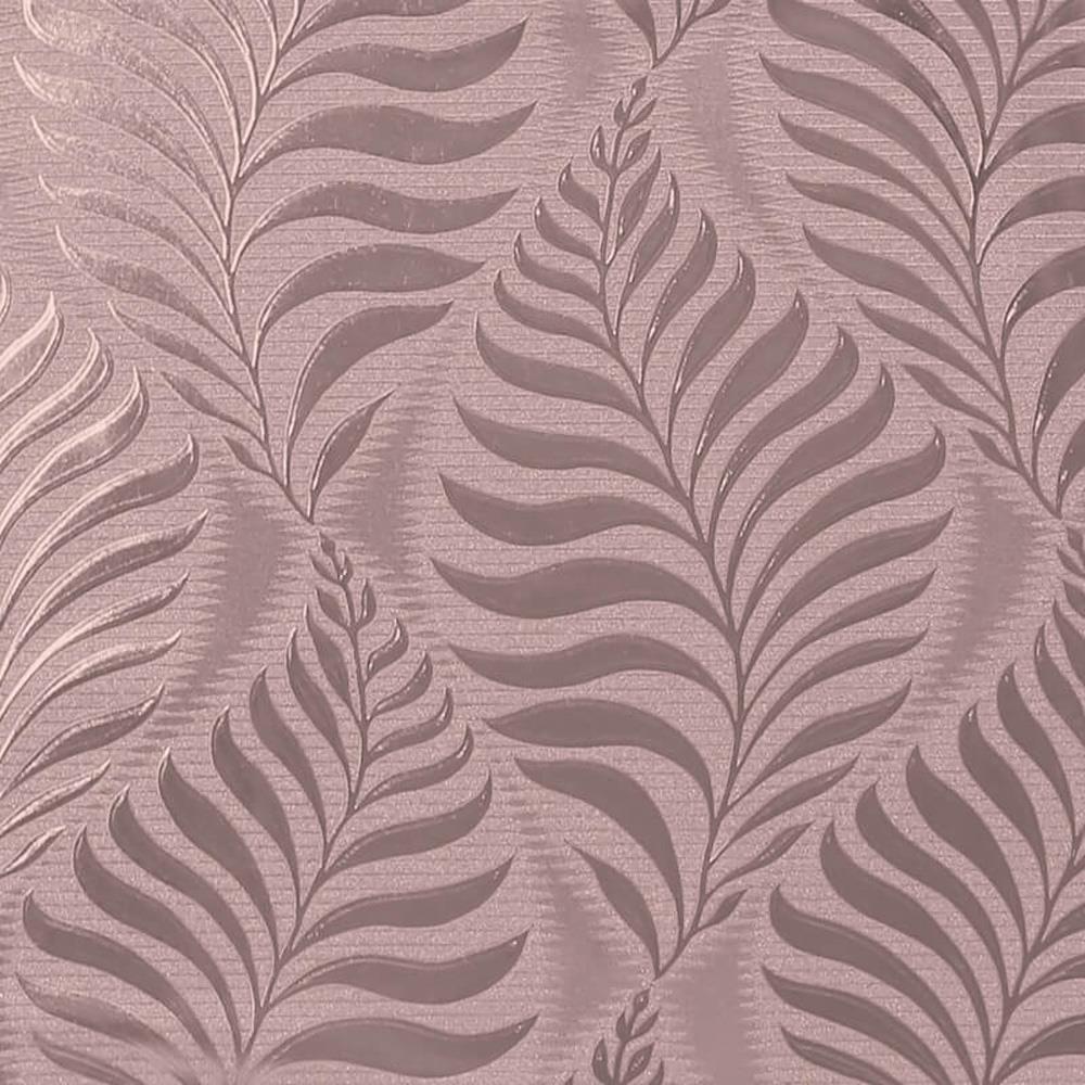 Arthouse Metallic Foil Vinyl Leaf Wallpaper Rose Gold Floral