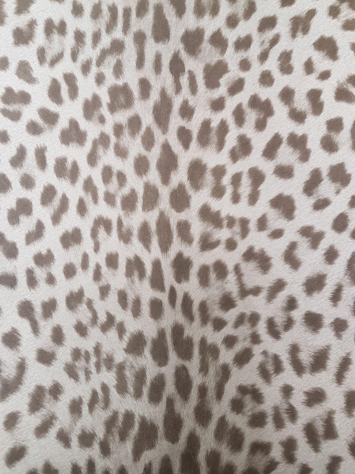 Details About Animal Print Leopard Wallpaper Textured Grey Brown Paste Wall Vinyl Deco 4 Walls