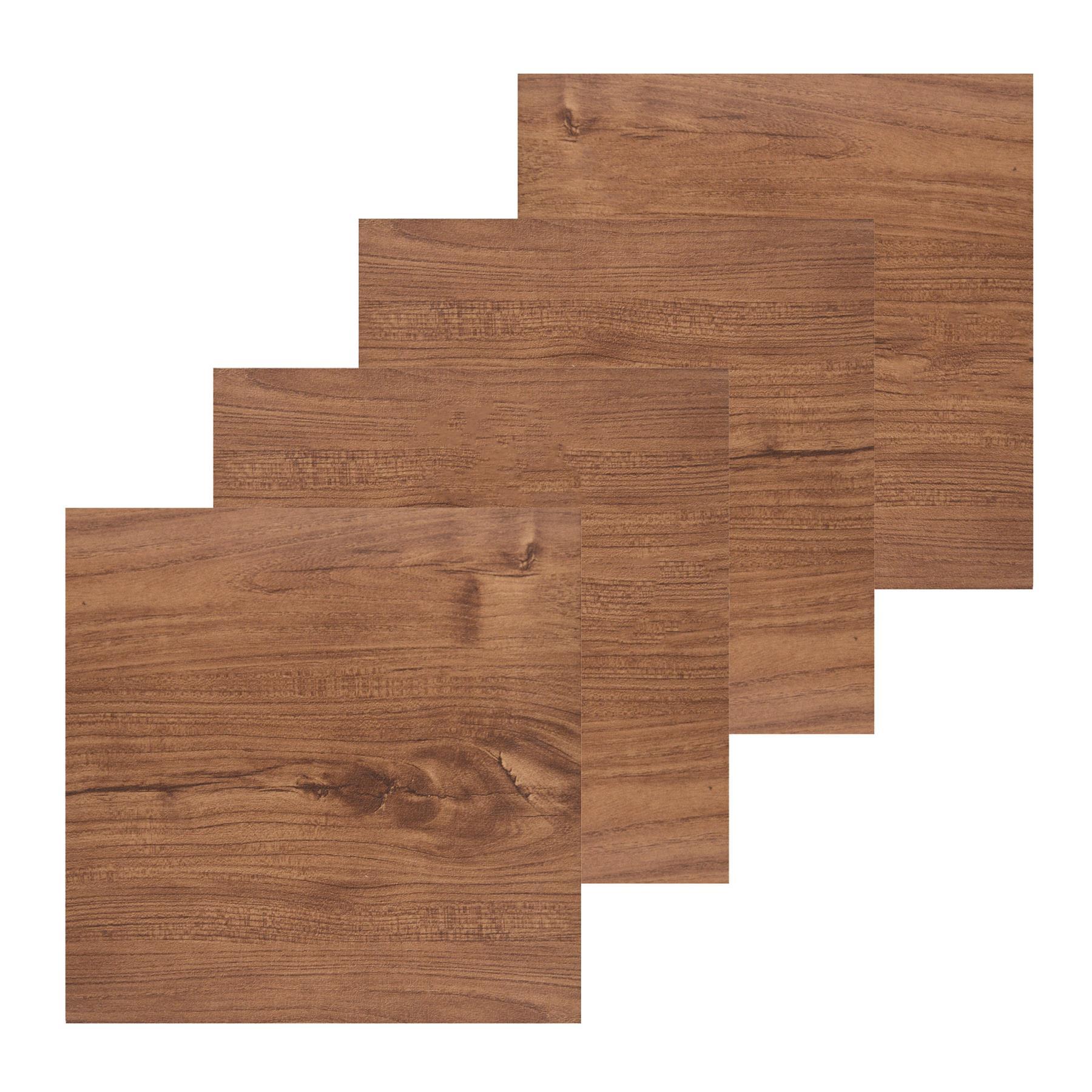 Floor-Tiles-Self-Adhesive-Vinyl-Flooring-Kitchen-Bathroom-Brown-Wood-Grain thumbnail 3